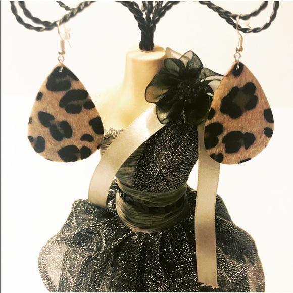 Evolving Always Jewelry - New Tear Drop Earrings Leopard Design
